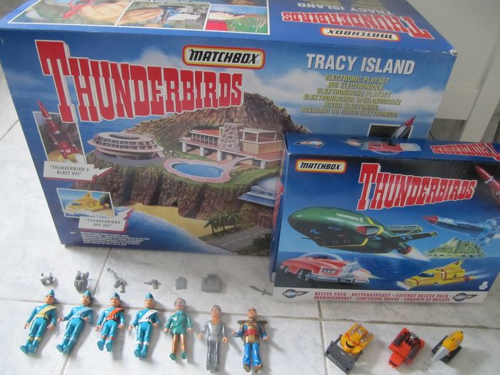 Thunderbirds Tracy Island - Rescue Pack - Figurines - Play Set - 1990-1999