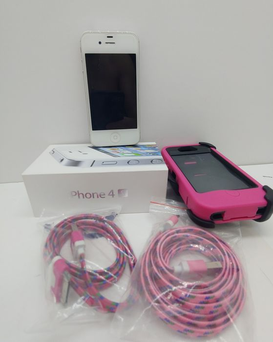 1 Apple IPhone 4S 16GB White Smartphone with Extras Original Box - Iphone (4) - In original box