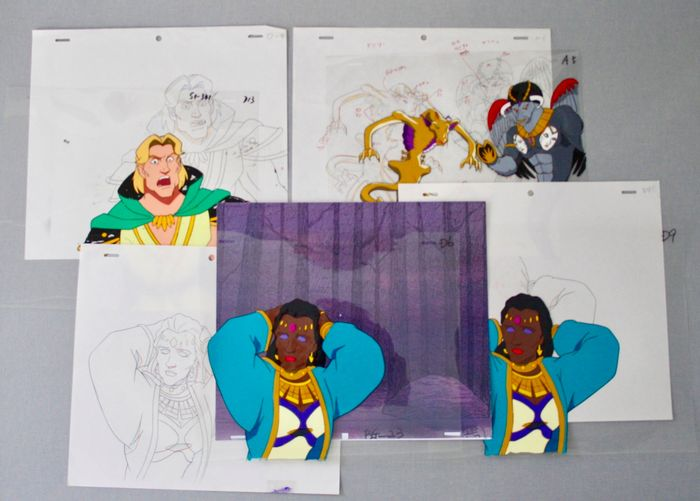 """Collection """"Siegfried and Roy""""- Masters of Impossible - 4 x Original Animation Production Cels + Drawings - Coleção Original - (1996)"""