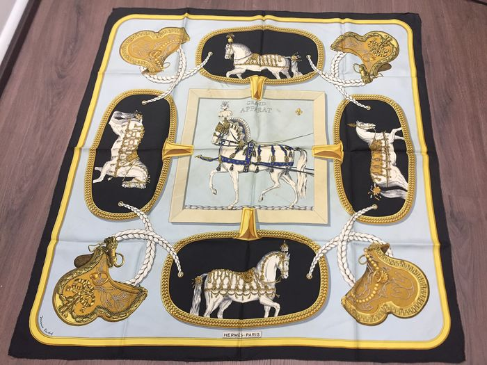 "Hermès - Hermes Collector ""Hermes Scarf ""Grand Apparat"" by Jacques Eudel, first issued in 1962 Scarf"