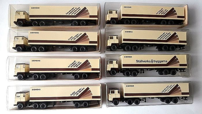 Wiking 1:87 - Modelcars - 8 x tractor units Scania 110 Siemens