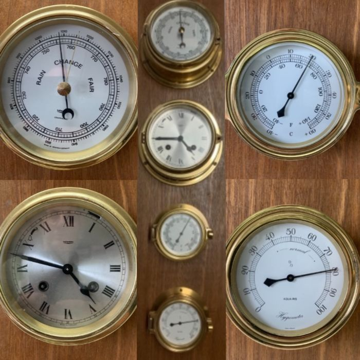4-part ship weather station - Brass - Second half 20th century