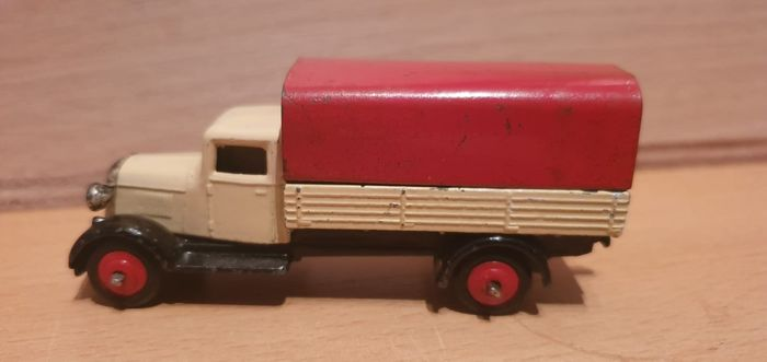 Dinky Toys - 1:55 - nr. 25B  Covered wagon  4e type chassis