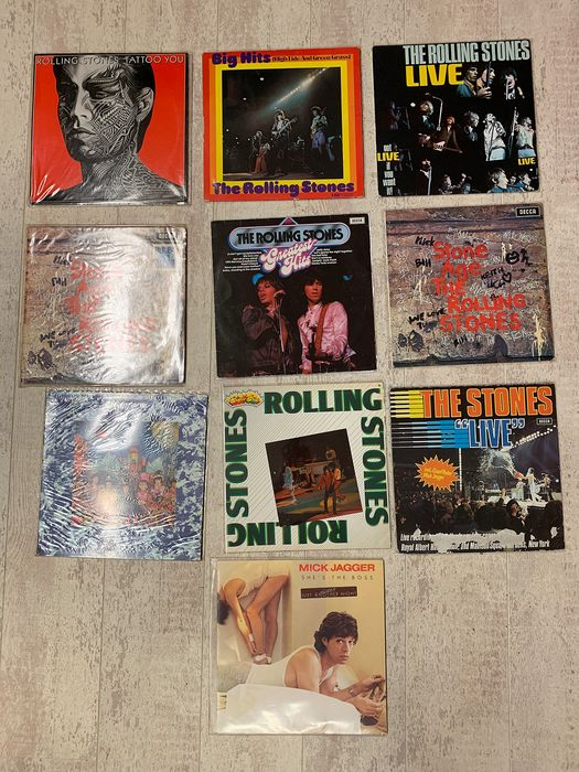 Rolling Stones & Related - 10 LP Albums - LP's - 1966/1985