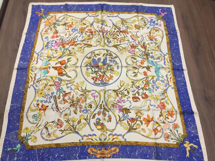 "Hermès - Hermes Paris ""Pierres d'Orient et d'Occident"" by Zoe Pauwels, first issued in 1988 Scarf"