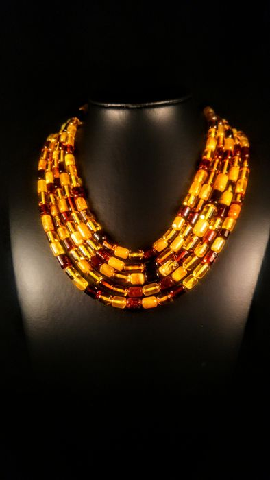 Baltic amber - Necklace - Natural (untreated)