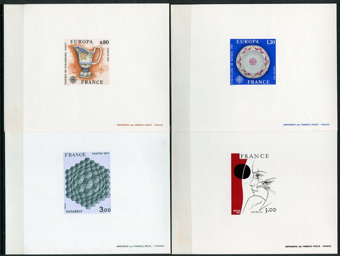 France 1976/1977 - 7 deluxe proofs - Maury entre n°1877 et 1960