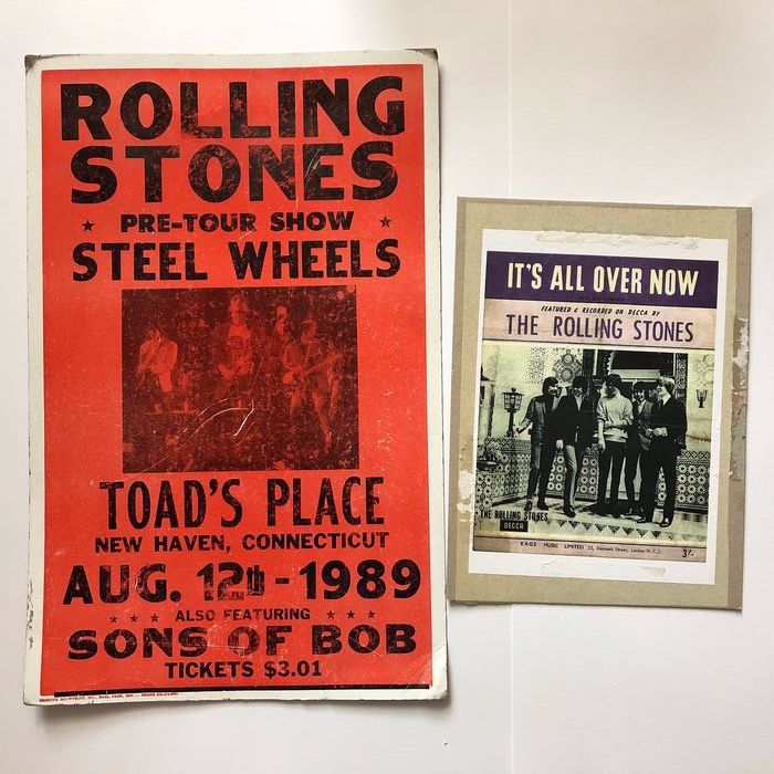 Rolling Stones - Steel Wheels - Official concert shield/ plate (non poster), Reprint poster (Reissue) - 1989/1989