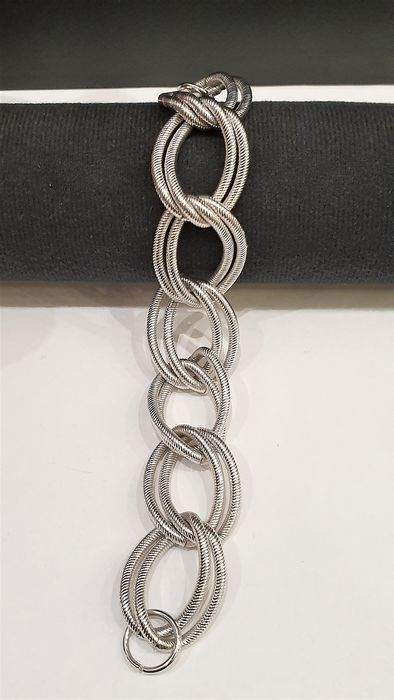 CACHAREL Silver plated double chain link Bracelet