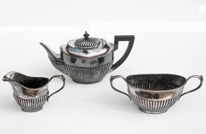 A.B. & Son Ltd - Tea service (3) - Silverplate