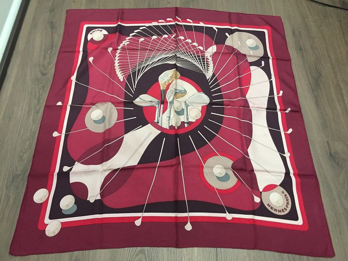"Hermès - Collector Hermes Scarf ""Swing"" designed  by Julia Abadie, first issued in  1979 Scarf"