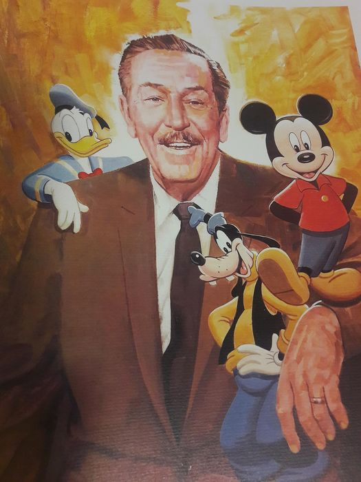 Paul Wenzel - Walt Disney, Mickey Mouse, Donald Duck, and Goofy
