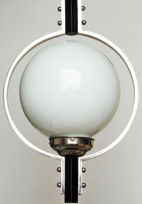 Art Deco *  - Bauhaus Ära - Ceiling light with glass ball