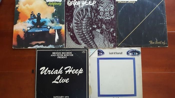"Uriah Heep - 5 x 12"" album  - Multiple titles - 2xLP Album (double album), LP's - 1973/1985"