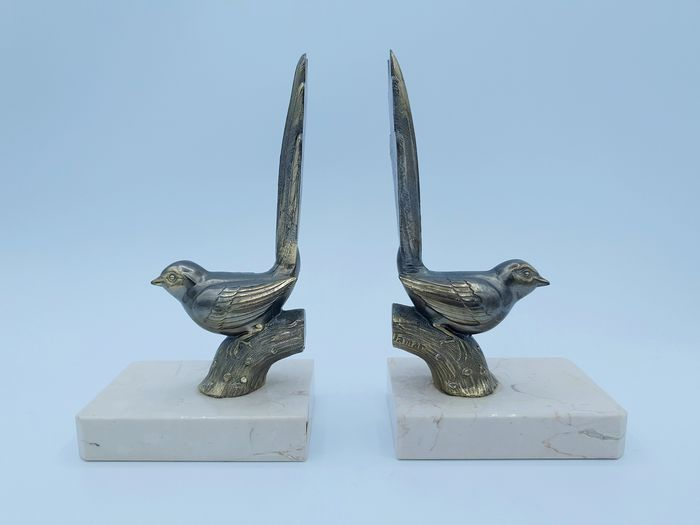 Jamar - Paire of bookends, Birds