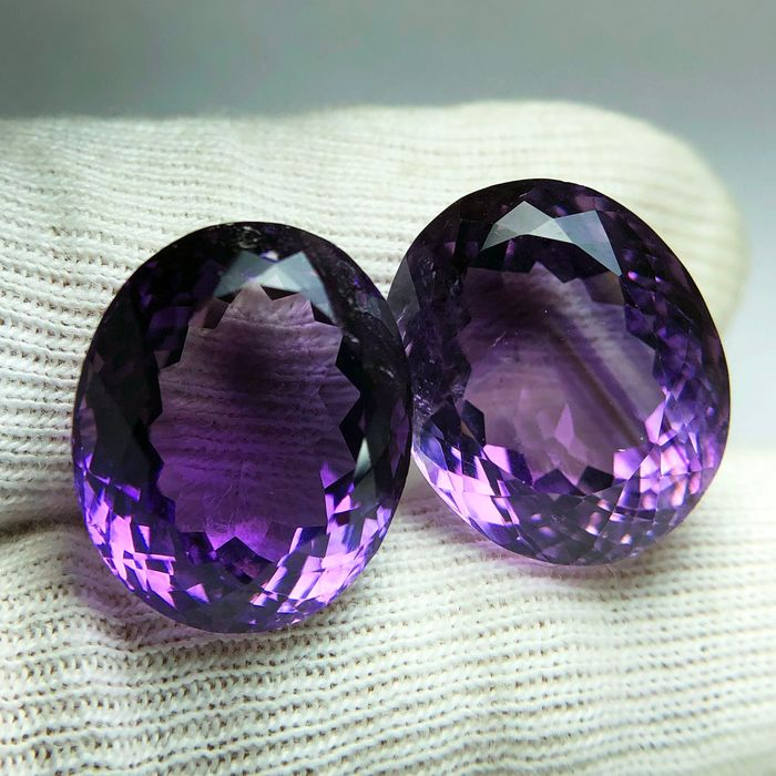 2 pcs Morado Amatista - 25.90 ct