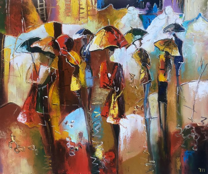 Tana Petrus - Autumn umbrellas