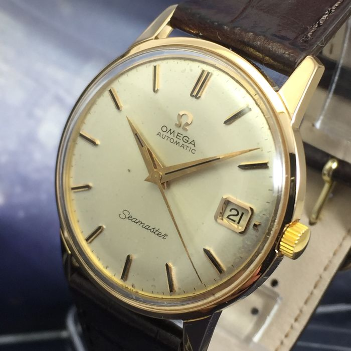 """Omega - Seamaster Automatic Solid Gold 18 K - """"NO RESERVE PRICE"""" - 166001 - Uomo - 1960-1969"""