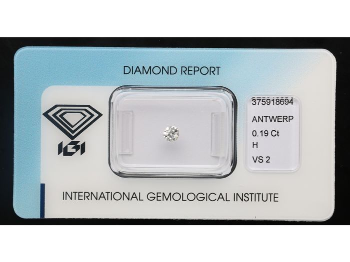 1 pcs Diamante - 0.19 ct - Vecchio taglio europeo - H - VS2 ***No Reserve***