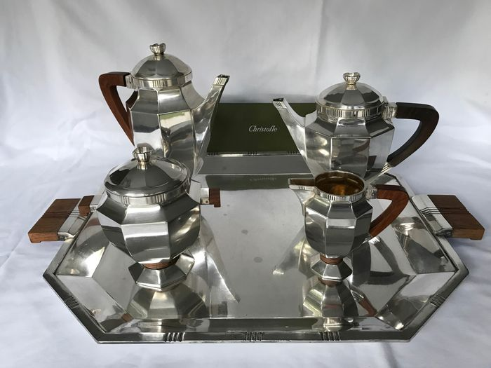 Gallia by Christofle Art Déco  - Coffee and tea service - Silver plated