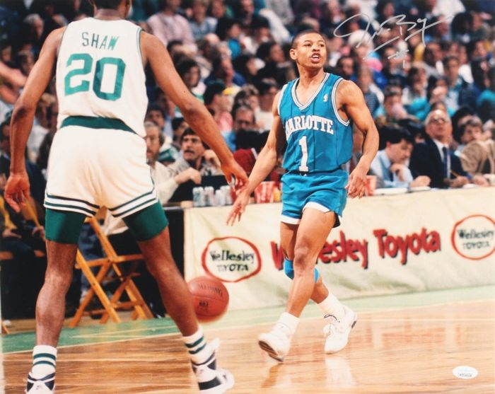 Charlotte Hornets - NBA Basketbal - Muggsy Bogues - Framed Photo