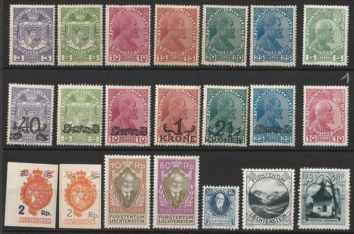 Liechtenstein 1912/1959 - Collection for stamp collectors (not gum collectors) - ANK 2017  4 Länder . ANK und Michel Nr. 1 bis 378