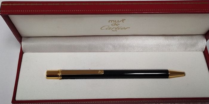 Cartier - Ballpoint - 18 Qt gold and laque de chine