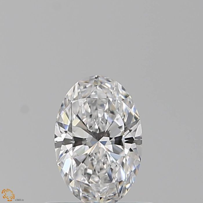 1 pcs Diamant - 0.50 ct - Oval - D (farblos) - VVS2