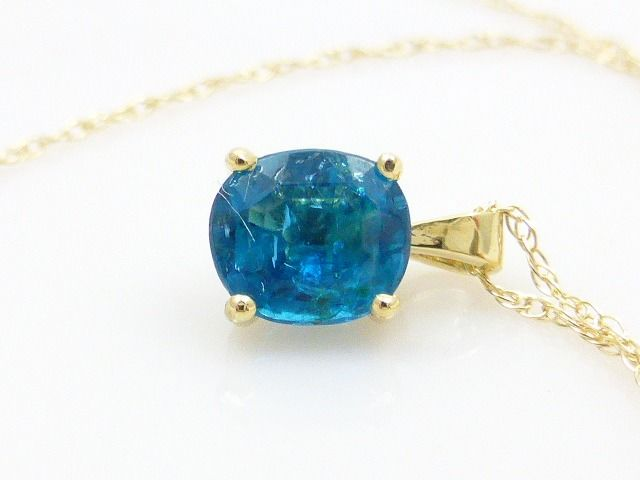14 karat yellow gold - Necklace with pendant - 0.80 ct Apatite