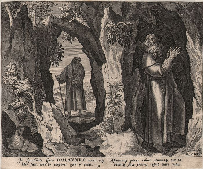 Joan Sadeler (1550-1660) - S. John the hermit