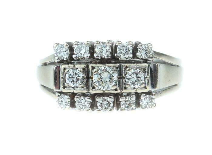 14 quilates Oro blanco - Anillo - 0.60 ct Diamante