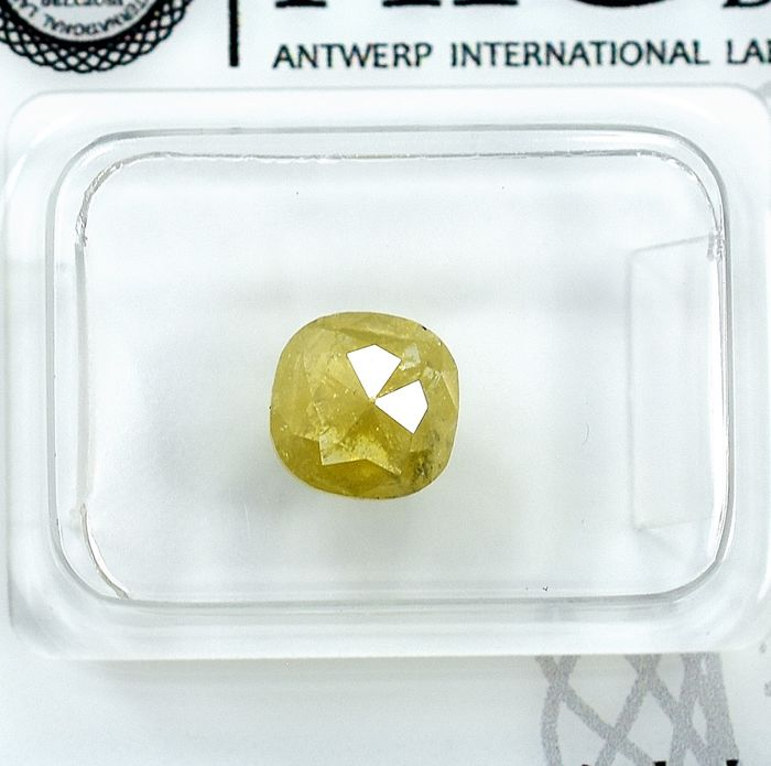 Diamond - 1.15 ct - Cushion - Natural Fancy Yellow - I3 - NO RESERVE PRICE