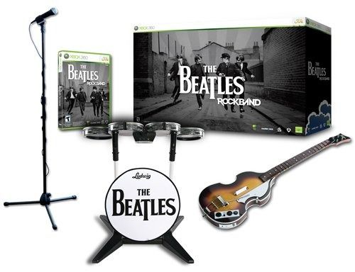 The beatles: rock band limited edition bundle priced, detailed.