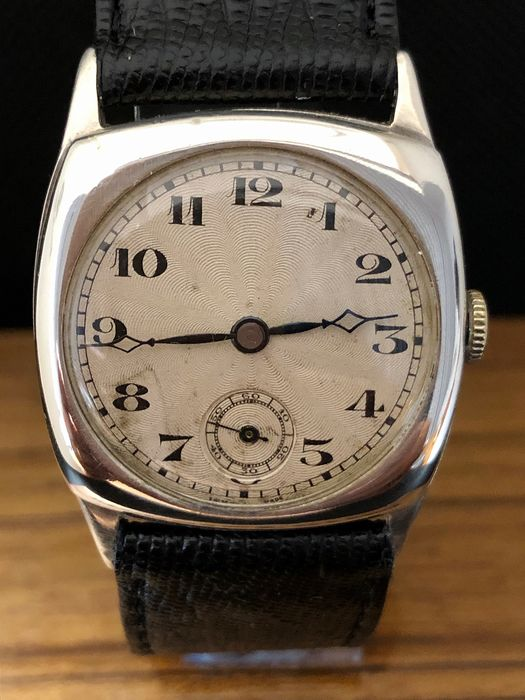 Solid Silver Trench Watch WWII - Men - 1901-1949