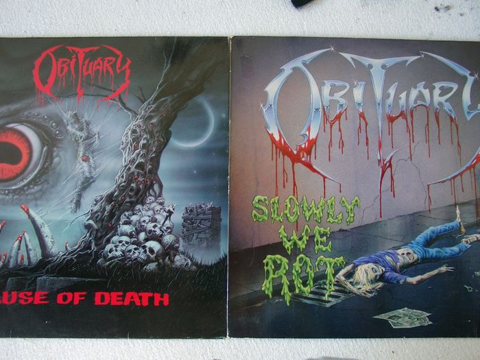 Obituary - Cause Of Death / Slowly We Rot  - Multiple titles - LP's - 1989/1990