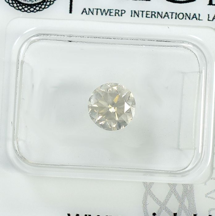 Diamond - 0.97 ct - Brilliant - light Yellowish Gray - I1 - NO RESERVE PRICE - VG/VG/VG