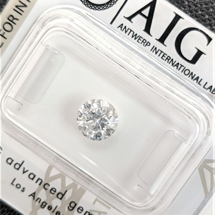 Diamond - 0.90 ct - Brilliant - E - I1, No Reserve Price