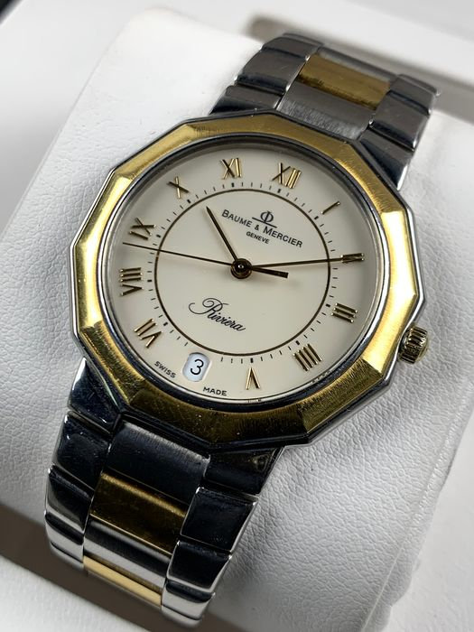 Baume & Mercier - Riviera Two Tone Mid-size - 5131 - Homme - 1990-1999