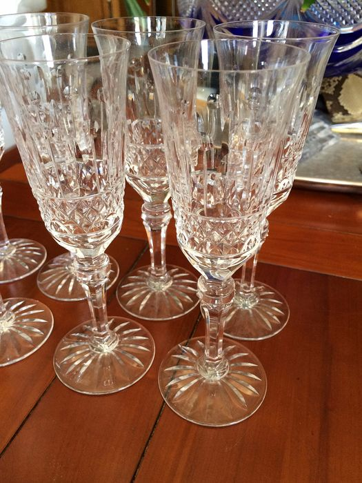 Baccarat - Crystal champagne glasses - Crystal