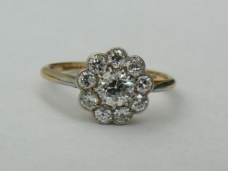 Gold, Platinum - Ring - 0.45 ct Diamond - Diamond
