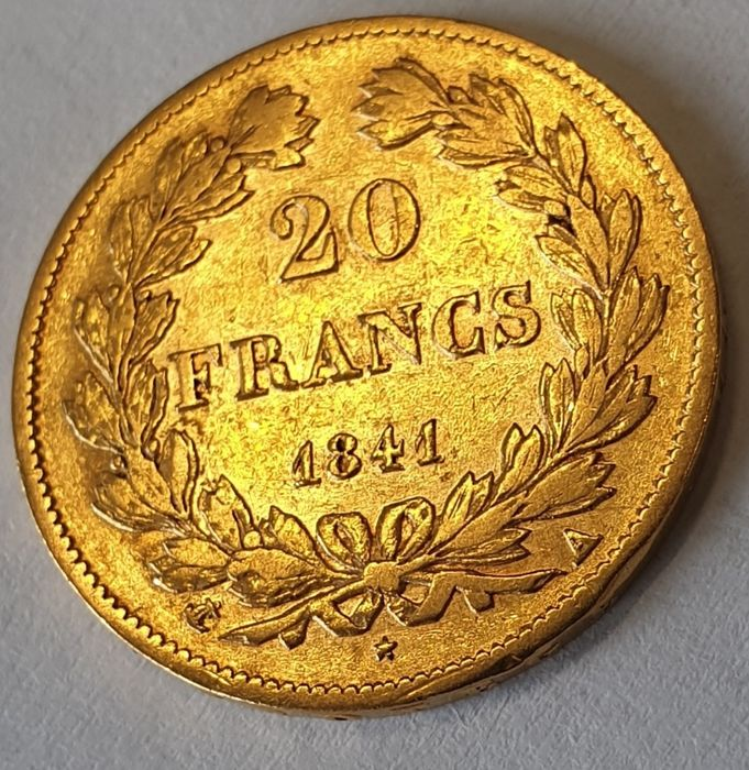 France - 20 Francs 1841 A Louis Philippe  - Or