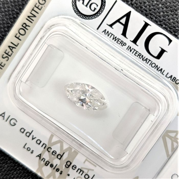 Diamond - 0.97 ct - Marquise - G - I2, No Reserve Price