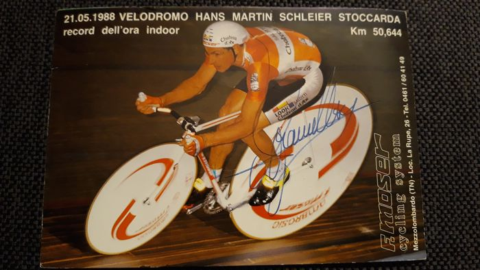 Cycling - Francesco Moser - 1988 - Sports paperstock & cutouts
