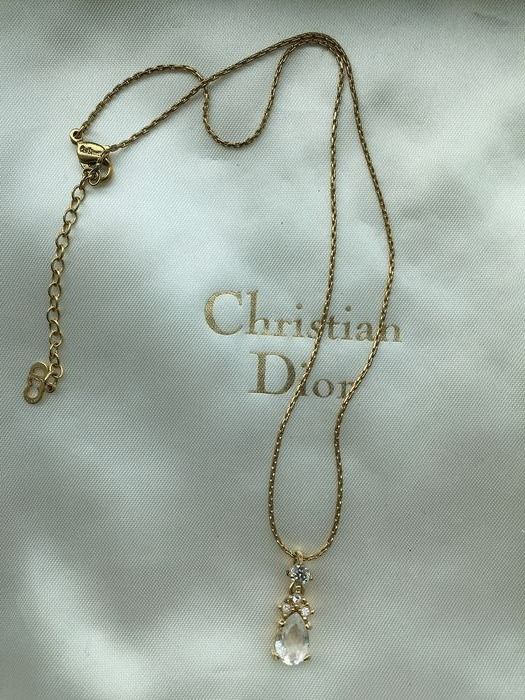 Christian Dior - No reserve!!  in box Gold-plated - Necklace
