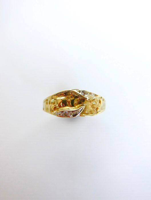 15 kt. Yellow gold - Ring Diamond