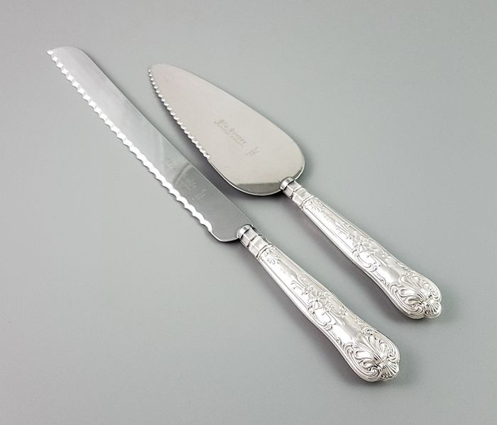 Harrison Brothers - Sheffield - Cutlery, Knife (2) - Renaissance Style - .925 silver, Steel (stainless)