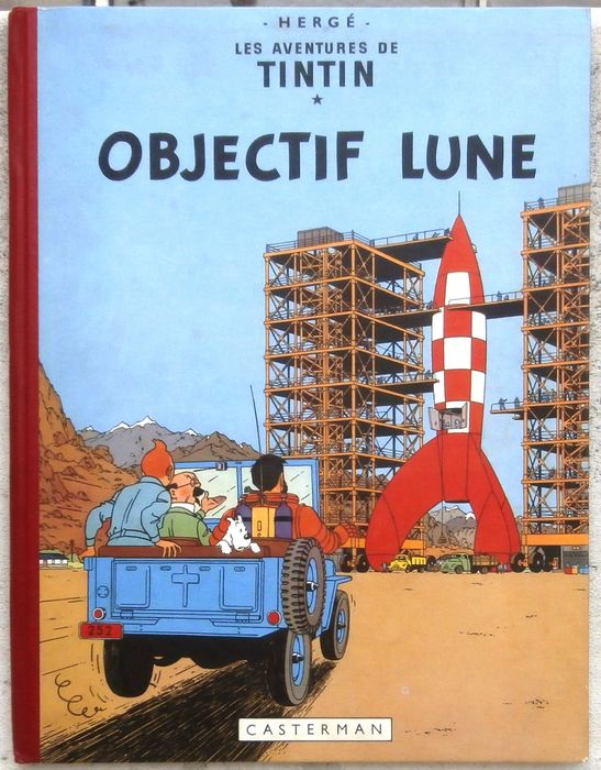 Tintin T16 - Objectif Lune (B8 belge) - C - First edition - (1953)