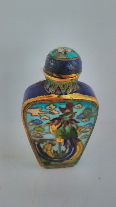 snuff bottle - Bronze - China - mid 20th century