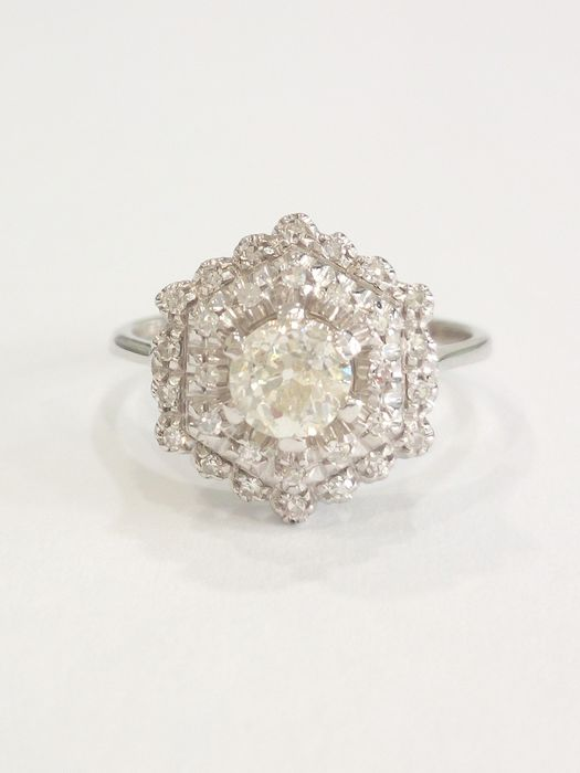 18 kt. White gold - Ring Diamond - Diamonds