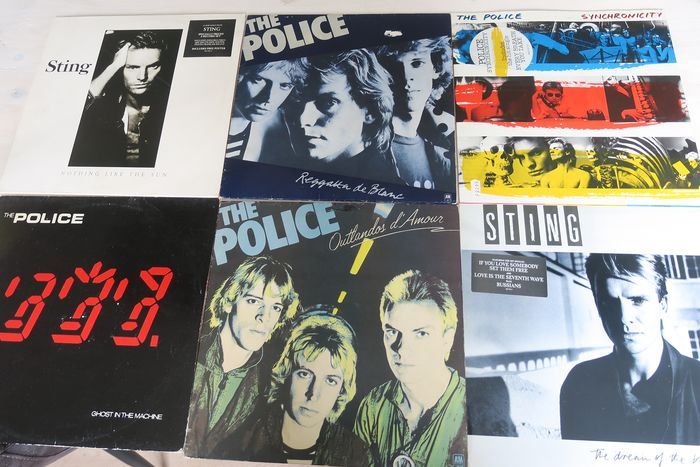 Police & Related, Sting - Nice lot with 6 great albums of The Police & Sting - Multiple titles - 2xLP Album (double album), LP's - 1978/1987